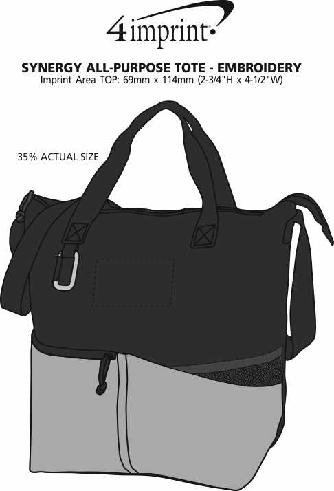 Imprint Area of Synergy All-Purpose Tote - Embroidered
