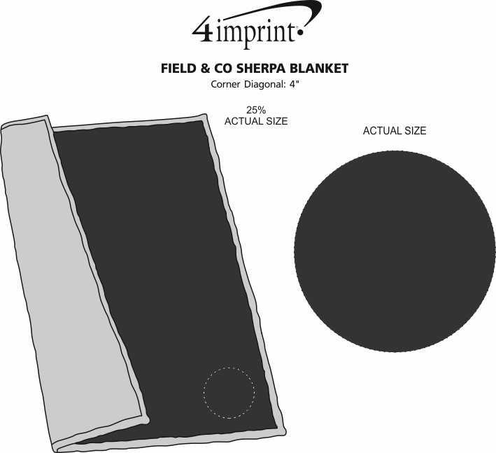 Imprint Area of Field & Co. Sherpa Blanket