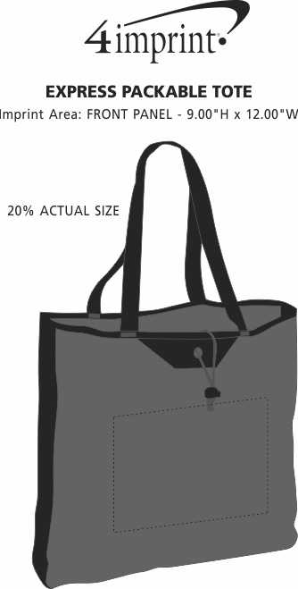 Imprint Area of Express Packable Tote