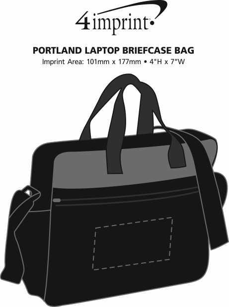 Imprint Area of Portland Laptop Briefcase Bag
