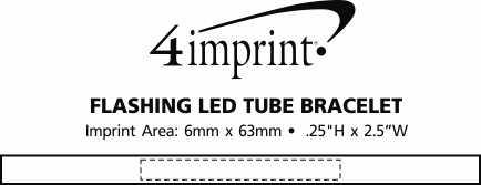 Imprint Area of Flashing LED Tube Bracelet