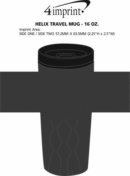 Imprint Area of Helix Travel Mug - 16 oz.