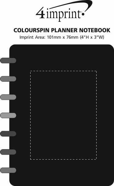 Imprint Area of Colourspin Planner Notebook