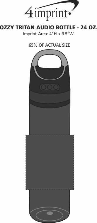 Imprint Area of Ozzy Tritan Audio Bottle - 24 oz.