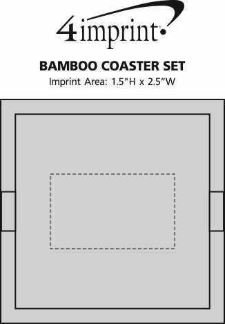 Imprint Area of Bamboo Coaster Set