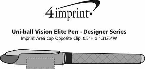 Imprint Area of uni-ball Vision Elite Pen - Designer Series