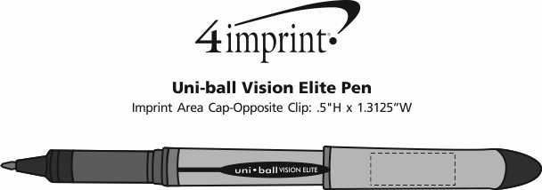 Imprint Area of uni-ball Vision Elite Pen