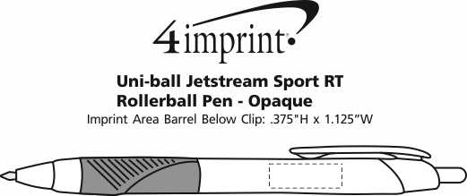 Imprint Area of uni-ball Jetstream Sport RT Rollerball Pen - Opaque