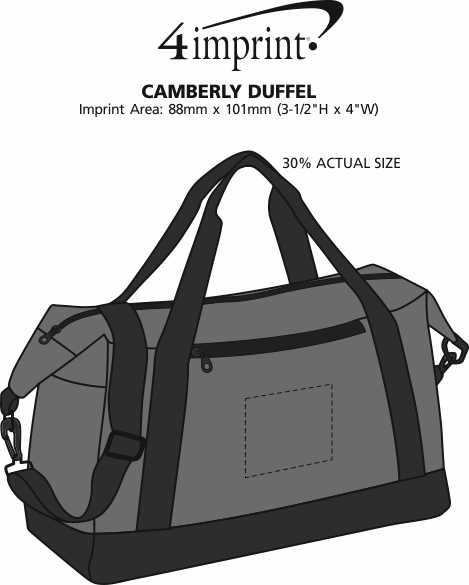 Imprint Area of Camberly Duffel