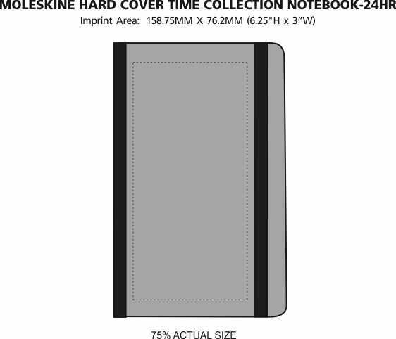 Imprint Area of Moleskine Hard Cover Time Collection Notebook