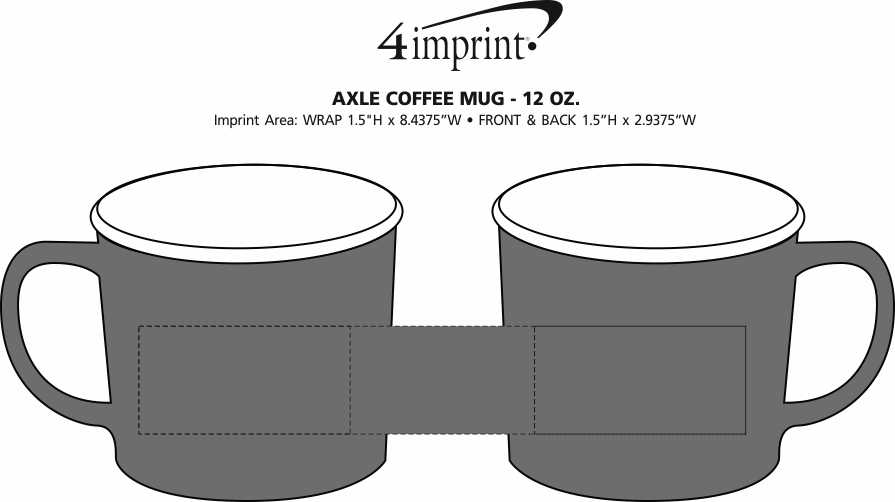 Imprint Area of Axle Coffee Mug - 12 oz.