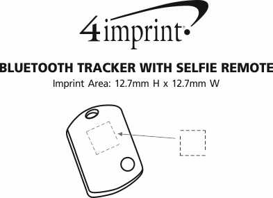 Imprint Area of Bluetooth Tracker with Selfie Remote