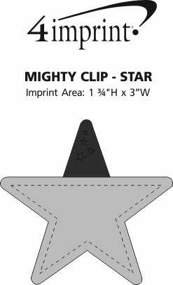 Imprint Area of Mighty Clip - Star
