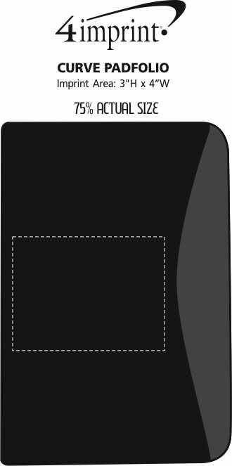 Imprint Area of Curve Padfolio