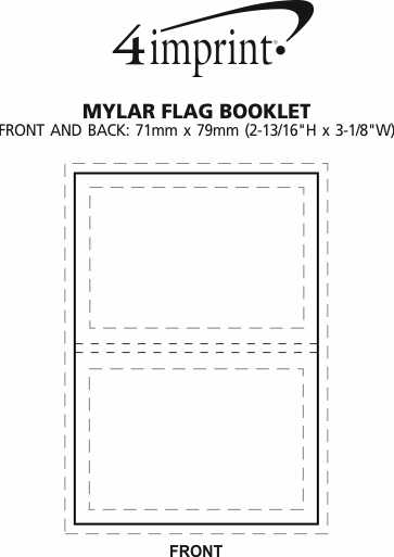 Imprint Area of Mylar Flag Booklet