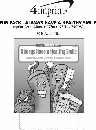 Imprint Area of Fun Pack - Always Have a Healthy Smile
