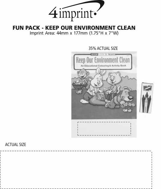 Imprint Area of Fun Pack - Keep Our Environment Clean