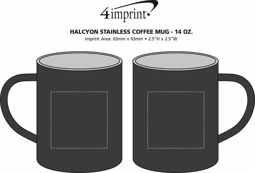 Imprint Area of Halcyon Stainless Coffee Mug - 14 oz.