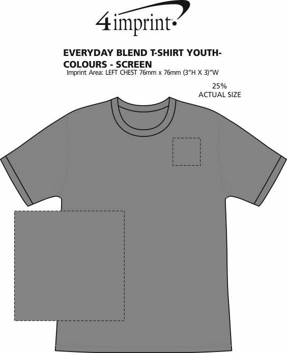 Imprint Area of Everyday Blend T-Shirt - Youth - Colours - Screen