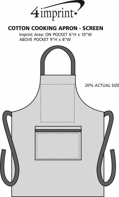 Imprint Area of Cotton Cooking Apron - Screen