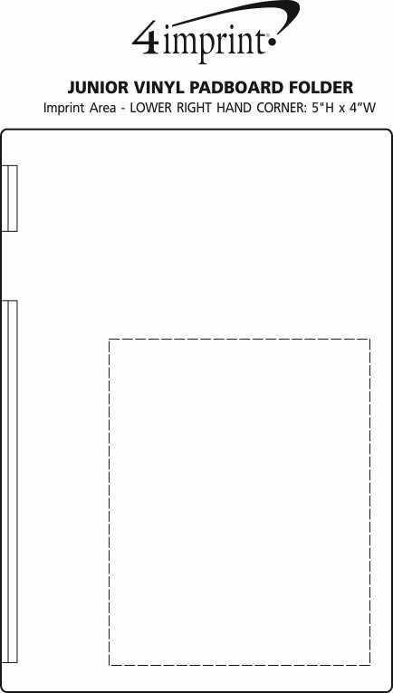 Imprint Area of Junior Vinyl Padboard Folder