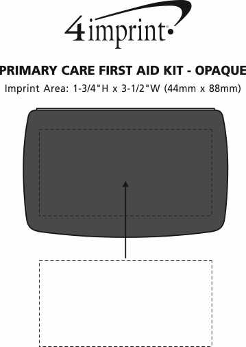 Imprint Area of Primary Care First Aid Kit - Opaque