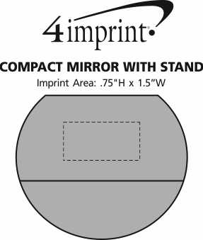 Imprint Area of Compact Mirror with Stand