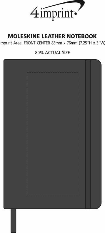 Imprint Area of Moleskine Leather Notebook