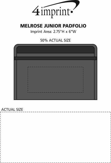 Imprint Area of Melrose Junior Padfolio