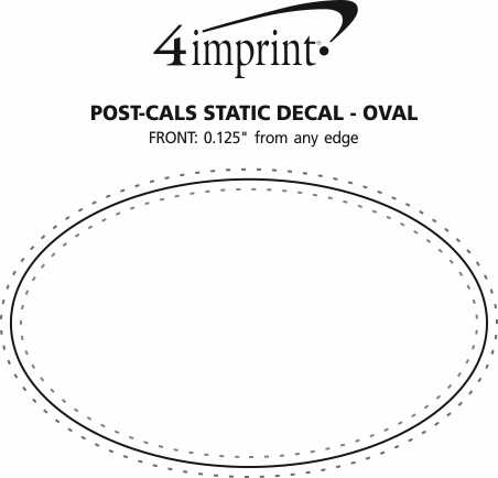 Imprint Area of Post-Cals Static Decal-Oval
