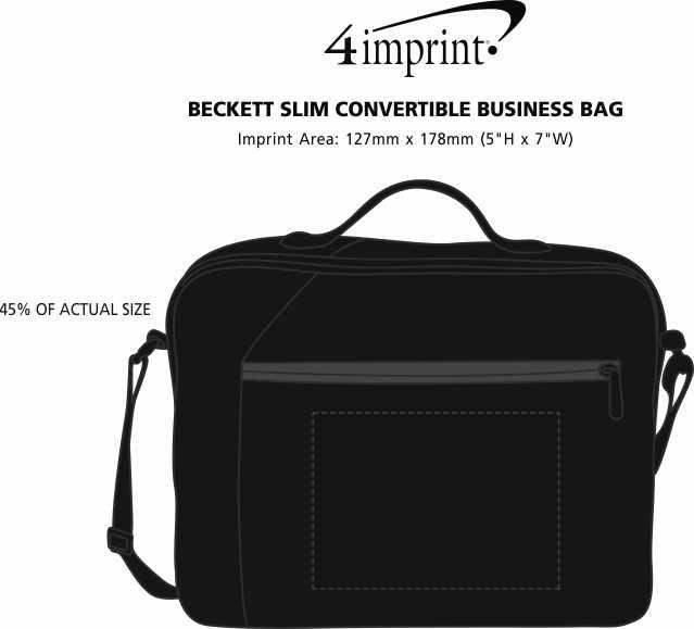 Imprint Area of Beckett Slim Convertible Business Bag