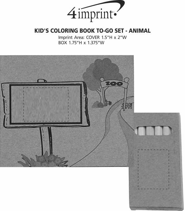Imprint Area of Kid's Colouring Book To-Go Set - Animal