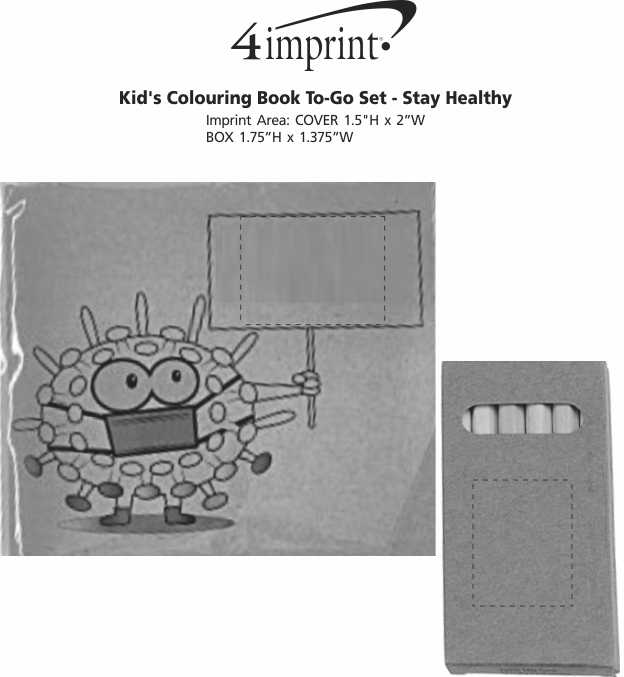 Imprint Area of Kid's Colouring Book To-Go Set - Stay Healthy