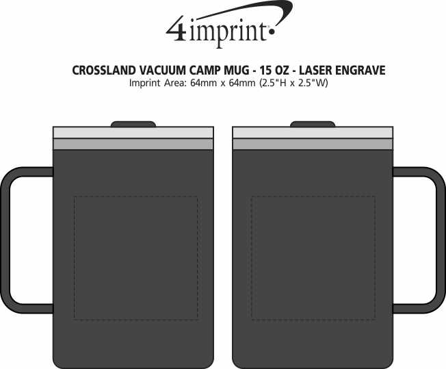 Imprint Area of Crossland Vacuum Camp Mug - 15 oz. - Laser Engraved