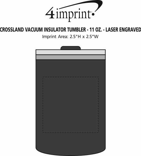 Imprint Area of Crossland Vacuum Insulator Tumbler - 11 oz. - Laser Engraved