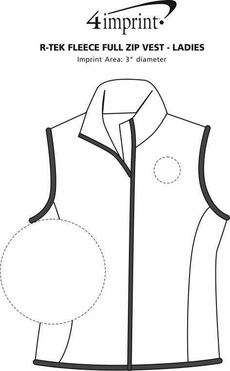 Imprint Area of Columbia Fleece Vest - Ladies'