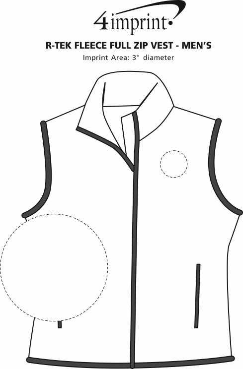 Imprint Area of Columbia Fleece Vest - Men's