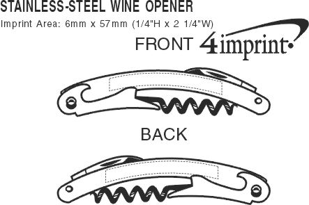 Imprint Area of Stainless-Steel Wine Opener