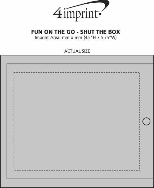 Imprint Area of Fun On the Go - Shut the Box