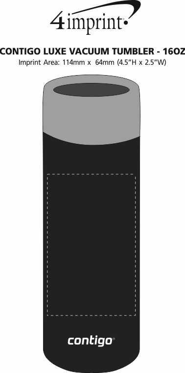 Imprint Area of Contigo Luxe Vacuum Tumbler - 16 oz.