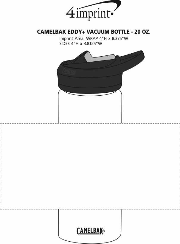 Imprint Area of CamelBak Eddy+ Vacuum Bottle - 20 oz.