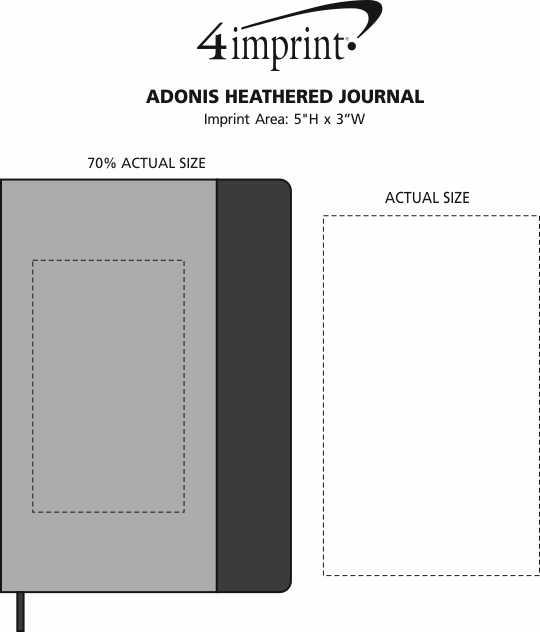 Imprint Area of Adonis Heathered Journal