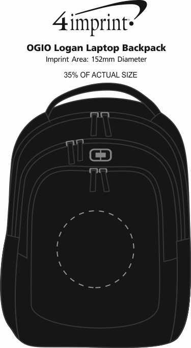 Imprint Area of OGIO Logan Laptop Backpack