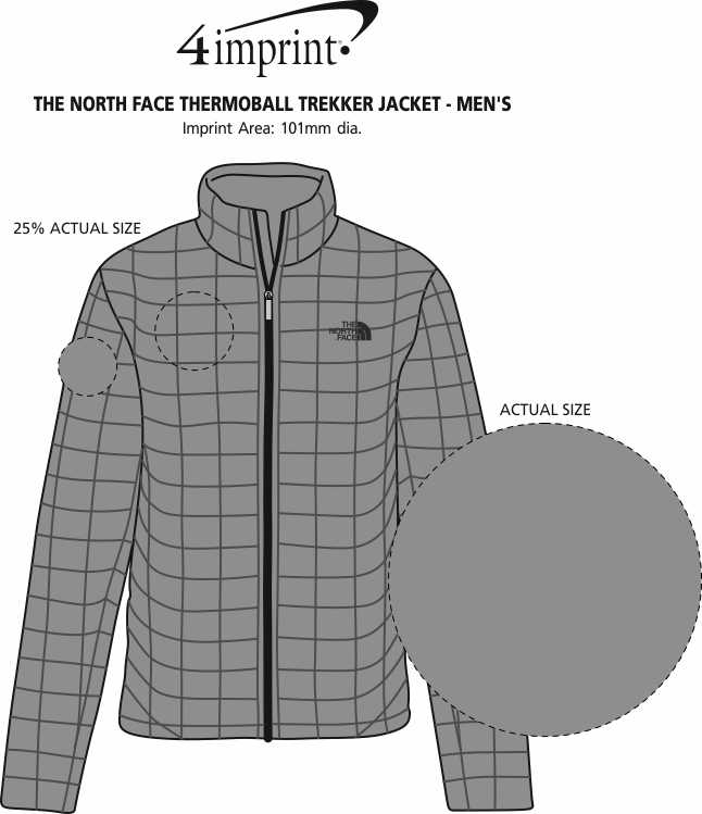 Imprint Area of The North Face Thermoball Trekker Jacket - Men's