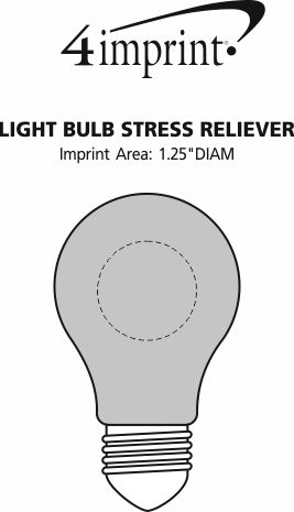 Imprint Area of Light Bulb Stress Reliever