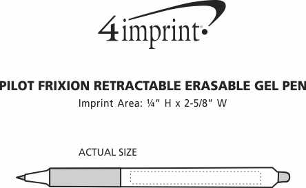 Imprint Area of Pilot FriXion Retractable Erasable Gel Pen