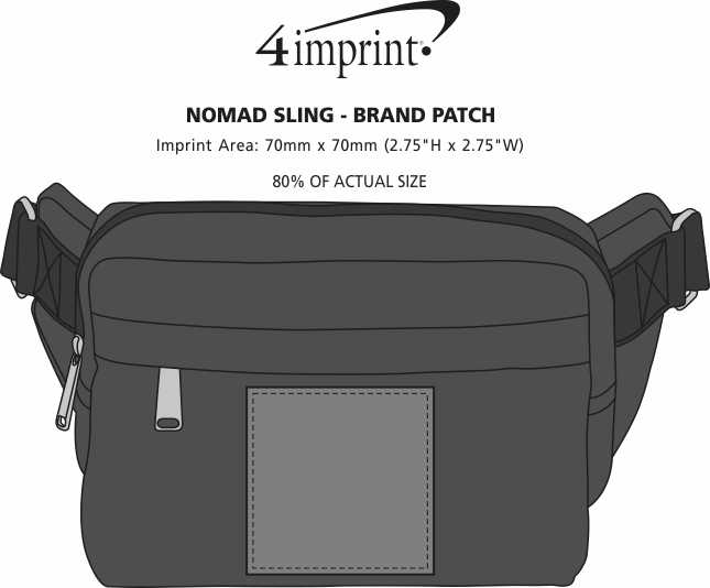Imprint Area of Nomad Sling - Brand Patch
