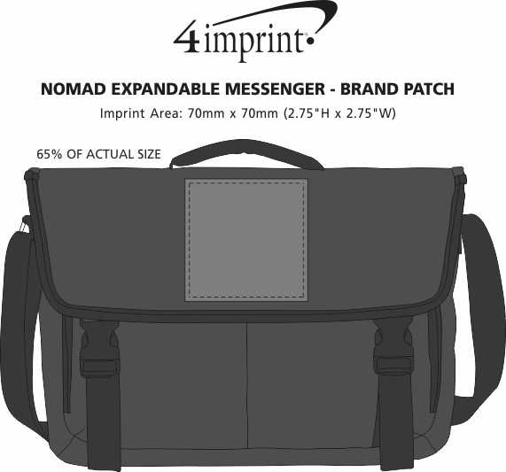 Imprint Area of Nomad Expandable Messenger - Brand Patch