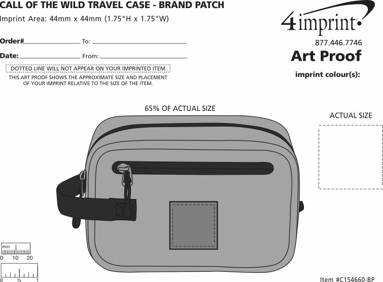 Imprint Area of Call of the Wild Travel Case - Brand Patch