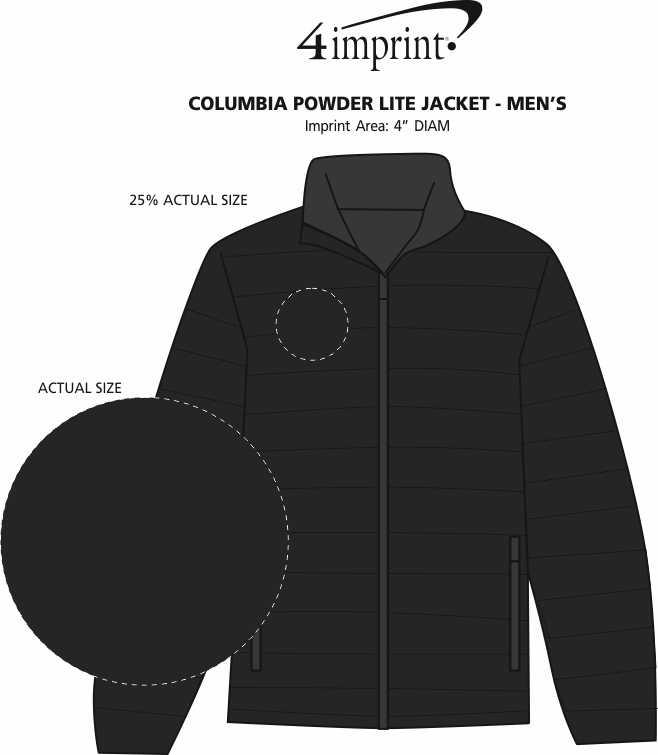Imprint Area of Columbia Powder Lite Jacket - Men's